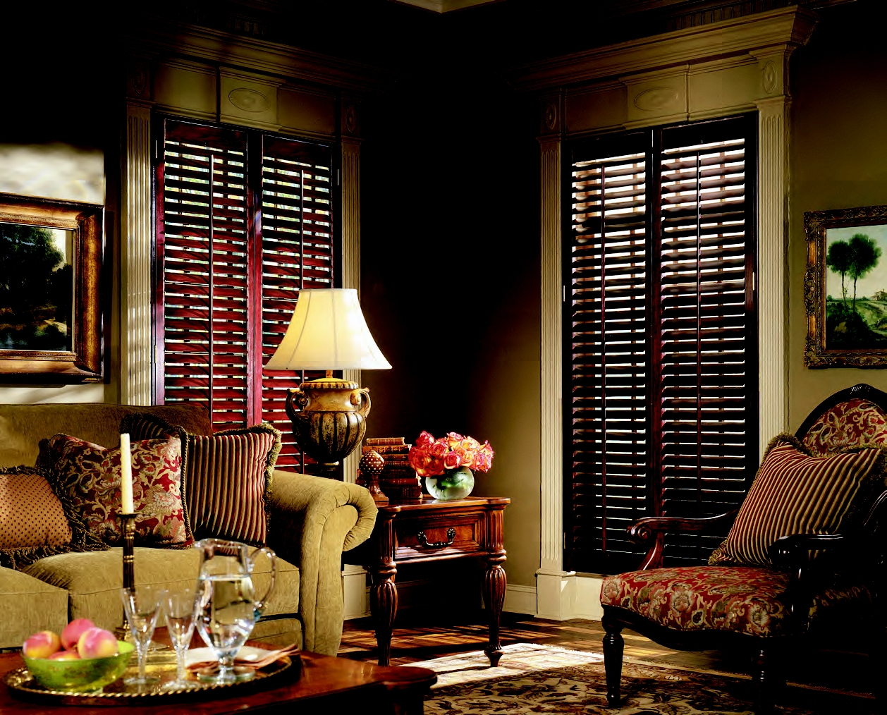 Plantation Shutters For The Living Room Carmel Fishers