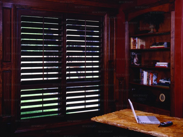 Plantation Shutters for the Home Office