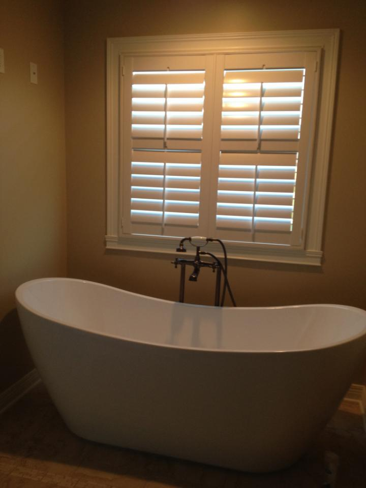 Here's a great bathroom application for shutters!