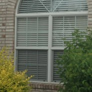 A great option for covering a palladium or arch window!